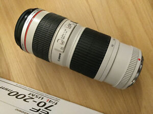 Canon 70-200mm L Lens (Non-IS) with Canon Lens Hood