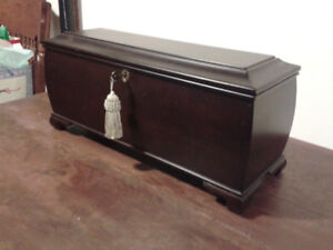 Small Wooden  Chest with lock & key