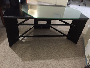 TV Stand w/ Plexiglass Trays