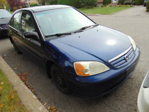 Honda civic 2002 stranded 5 speed winter tires are on the car re