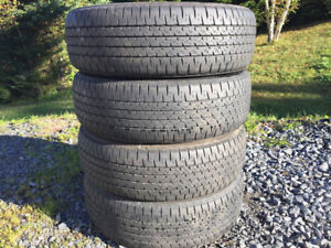 Four P195/65R15 Winter Tires