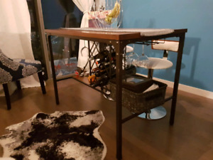 High top Dining table with Wine Rack!
