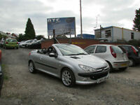 Peugeot 206 1.6 2002MY Coupe Cabriolet S Convertible