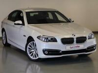 2015 BMW 5 Series 520d [190] Luxury 4dr Step Auto Diesel white Automatic