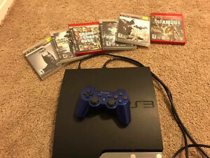PlayStation 3 160GB with 6 Games