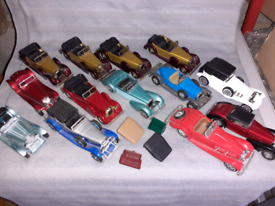 Joblot of old cars