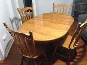 Solid Oak Mennonite Dining Set