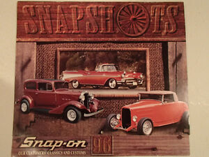 New 1996 SNAPSHOTS 12 Month SNAP-ON Car CALENDAR.