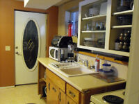 Furnished basement suite in Lacombe with  kitchen, laundry