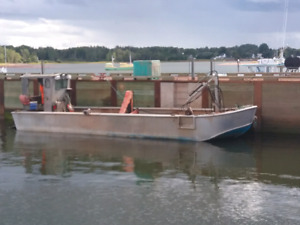 Mussel oyster barge boat