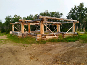 Hybrid log shell for sale near completion