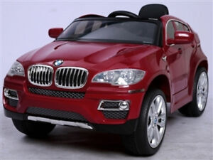 Licensed 12V BMW X6 Child Ride-On Car  Doors Leather Seat Remote