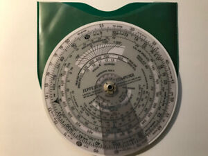 Jeppesen CR Computer 1960 Flight Calculator.  Booklet and