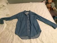 Xsmall jean shirt from old navy