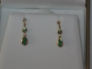 14 K Gold and Diamond Earrings