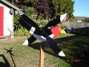 Handmade Red Headed Woodpecker Whirligig