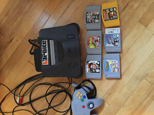 N64 with all cables, controller, 6 games