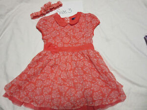 cute toddler girl dresses/outfits, size 3