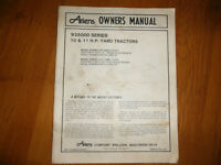 ARIENS 935000 Series 10 & 11 H.P. Yard  Tractors Owners Manual