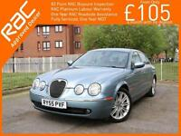 2005 Jaguar S-Type 2.7 Turbo Diesel SE 6 Speed Auto Sat Nav Full Leather Heated