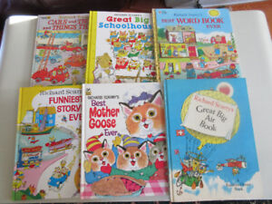 6 Richard Scarry Books - Great Condition   Kids Classics!!