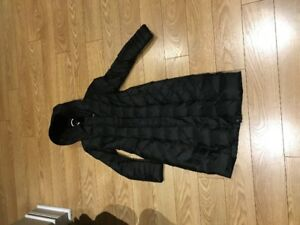 Like NEW, black long down filled winter coat!