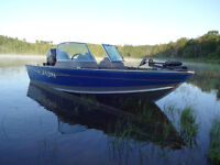 Lund Boat with a 60hp Mercury