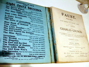 1910 FAUST Grand Opera BARBIER & CARRE music vocal score GOUNOD