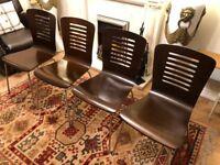 4 wood kitchen chairs