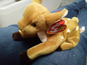 Whisper deer TY beanie baby stuffed animal collectible