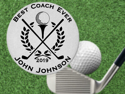 Best Coach Ever! Golf Ball Marker Gift, Stainless Steel, Personalized (Best Golf Gift Ever)
