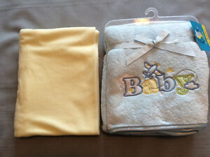 Six Baby Blankets: 3 manufactured, 3 custom-made