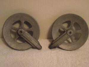 Vintage Aluminum Clothesline Reels for Ceiling Lights
