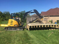 Excavation services and landscaping