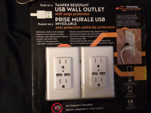 Usb electrical outlets *still in wrapping*