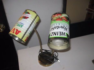 Lamp with juice can shades