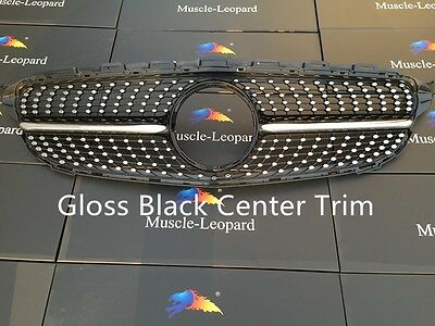Diamond grille for Mercedes Benz W205 new C class c250 c300 c400 C450 AMG Sport
