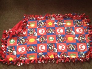Super Mario handmade fleece blanket