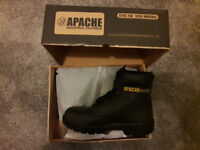 Apache Men's Safety Boots. Steel Toe Cap. Steel Mid Sole. Size 8