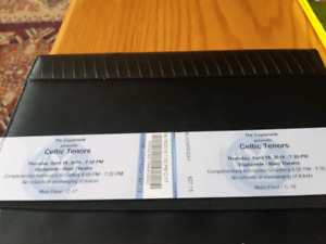 Tickets for Celtic tenors tonight