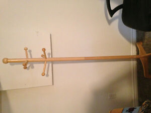 Solid Oak Coat Rack