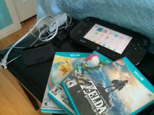 Wii U Console & 4 Games including Zelda Breath of the Wild