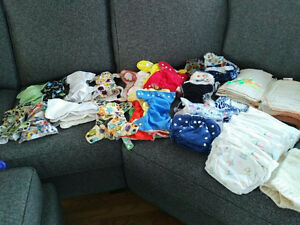 Great deal - Large lot of Cloth Diapers (multiple varieties)