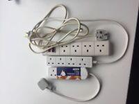 Three socket electric patch board