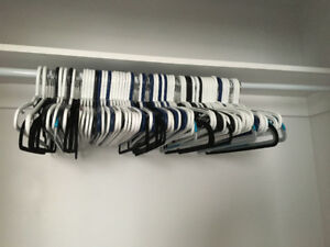 75 clothes hangers for $10.