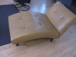 Contemporary Leather Chaise