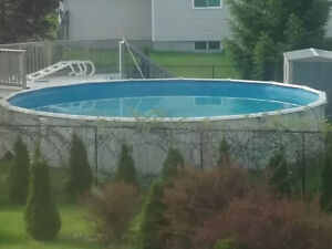 27 foot round above ground pool 54'' high - All included