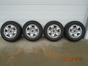 (4)  Michelin X ICE 13, Winter Tires With Rims, --- 225/65R16