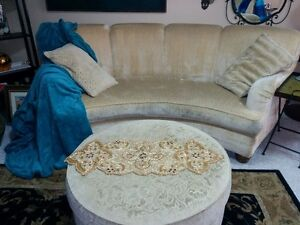 designer couch, chair and ottoman
