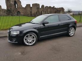 Audi A3 1.6 2009 S Line Black Sports Hatchback 101 MPI
